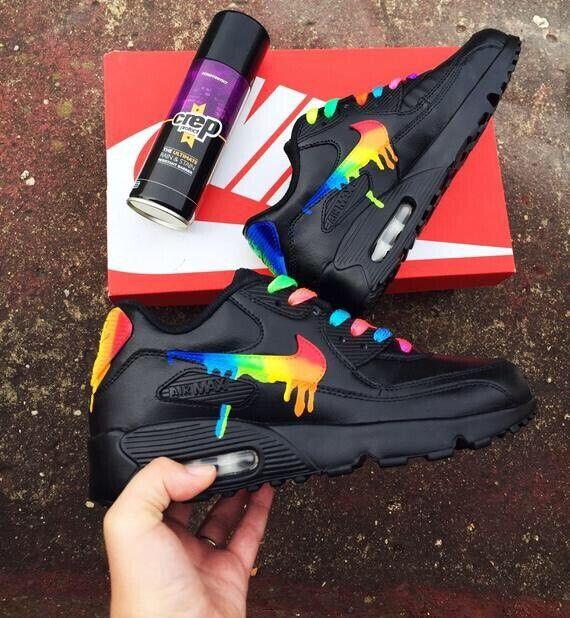 Rainbow drippy nike air max 90   in Sutton, London   Gumtree