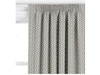 John Lewis Meeko Curtains (Pencil Pleat) with Thermal Blackout Lining, Set of 2 (92x230 cm each)