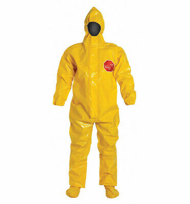 2 Dupont Tychem 9000 Hooded Coveralls 3x Yellow Hazmat Chemical Waste Cleanup