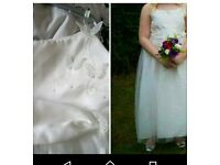 2 flower girl dresses