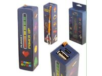Handy portable USB power bank- game over design