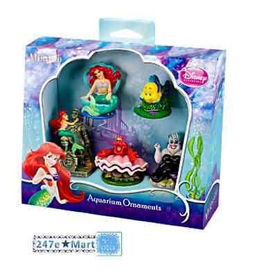 NEW Penn Plax Little Mermaid 5-Piece Mini Resin Ornaments for Aquariums Fish Pet