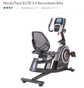 Norditrack recumbent bicycle - new - for sale