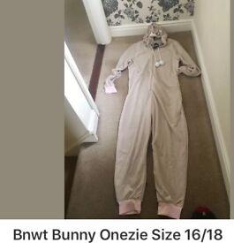 Bnwt Bunny Onezie Size 16/18