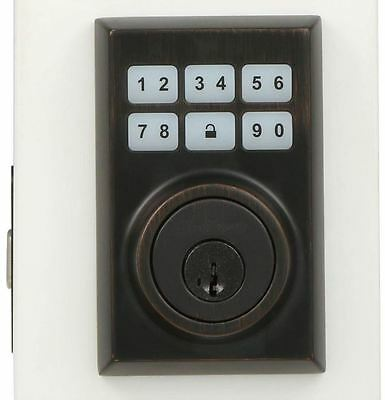 Electronic Touchpad Motorized Locking Deadbolt Keyless Entry Programmable Code Cp Code Entry Lock