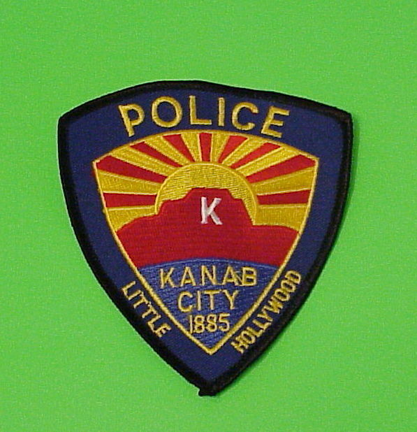 "KANAB CITY  UTAH  UT  "" LITTLE HOLLYWOOD ""  POLICE DEPT. PATCH  FREE SHIPPING!!!"