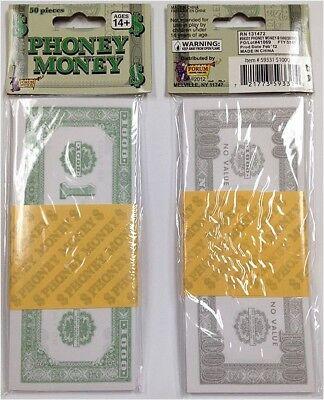 Phoney Paper Money $1000 Bills (50 Bills Total) Fake Cash New FREE SHIPPING * - Halloween 1000 Games