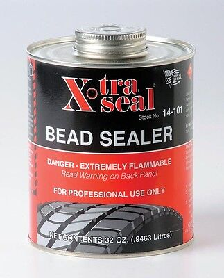 X-TRA SEAL Tire Bead Sealer - Black with Brush 1 Quart - Free Priority Ship USA