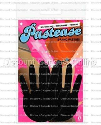 Hands Self Adhesive (Pastease Pasties Self-Adhesive REUSEABLE Nipple WATERPROOF Tassels BLACK hands )