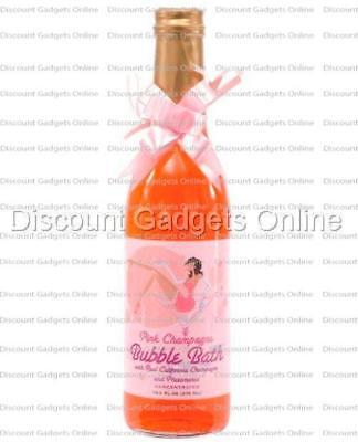 PINK Champagne Bubble Bath PHEROMONE Wine Bottle Romance Gift Valentine 12.2oz - Champagne Bubble Bath