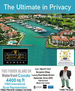 7083 FISHER ISLAND DRIVE FLORIDA BEN REMAX 1855 778-3232 CALL ME