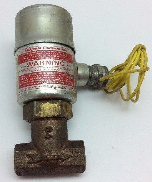 Gould Company Inc Solenoid Valve 5-150 psi Air or Water 120v/60hz 1/4