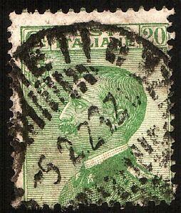 1925-ITALIA-REGNO-Tipi-del-1908-Cent-20-Verde-Cat-SASSONE-n-184