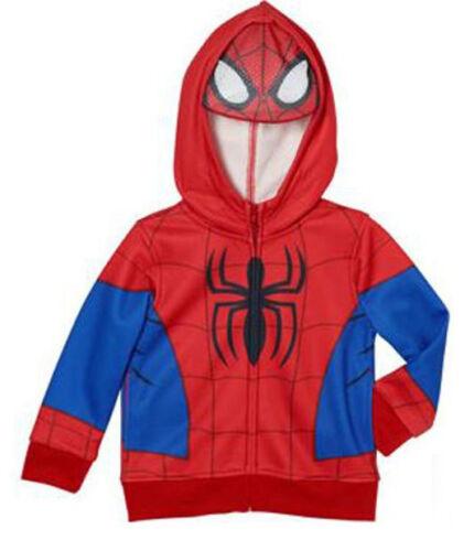 Marvel Comics Toddler Boys Spiderman Full Zip Hoodie