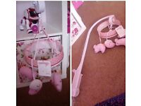 Girls musical cot mobile