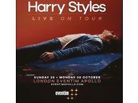 Harry Styles Tour Tickets - London - 29/10/17 - Standing GA