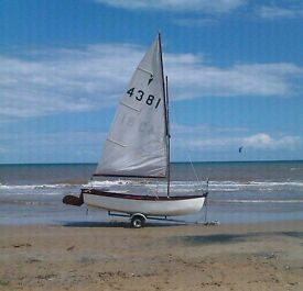 Sail Boat and Trailer plus +