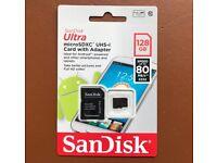 SanDisk 128GB Memory Card SD + Adaptor