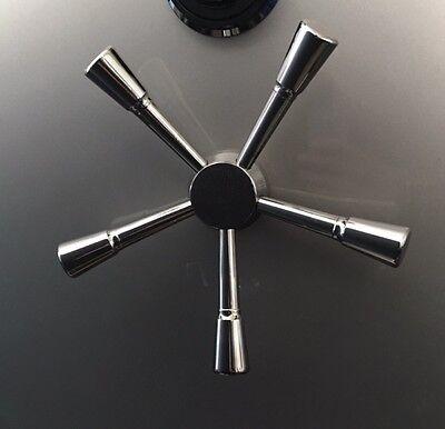 Gun Safe Handle - Premium 5 Spoke Handle With Black Chrome Finish Free Shipping