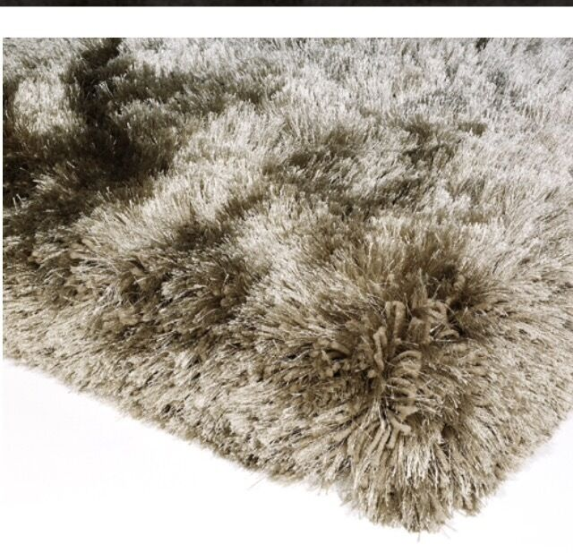 STUNNING BARKER STONEHOUSE ASIATIC PLUSH RUG IN TAUPE 170