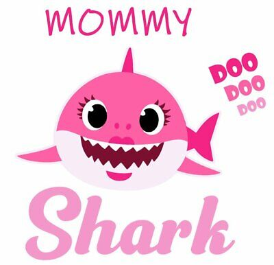 ::::::::::::::::::::::MOMMY SHARK::::::::::::::::::::::T-SHIRT IRON ON TRANSFER
