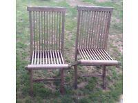 2x folding garden chairs