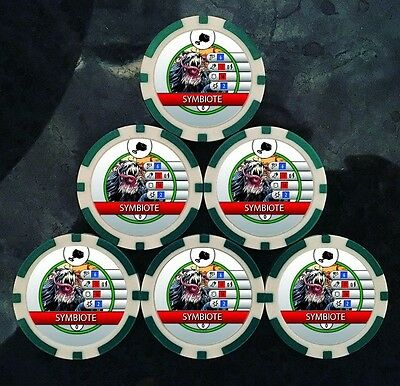 Custom Symbiote BystanderTokens (x6) - For Use With Carnage G004 - Heroclix