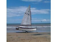 Sail Boat with Trailer , sails, rigging etc