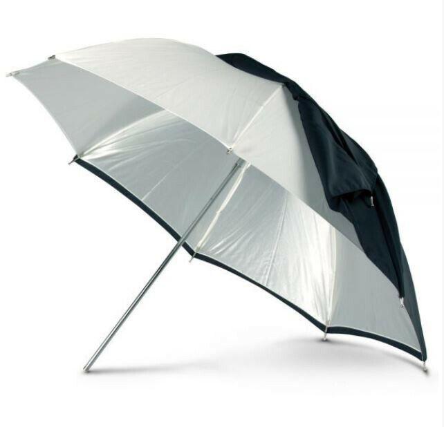 "Photo Flex 45"" White Convertible Umbrella"