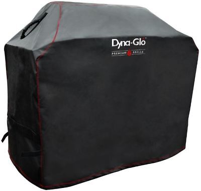 Dyna-Glo 5 Burner BBQ LP Gas Grill Cover 57x25x47 Water Resistant Mesh Side Vent
