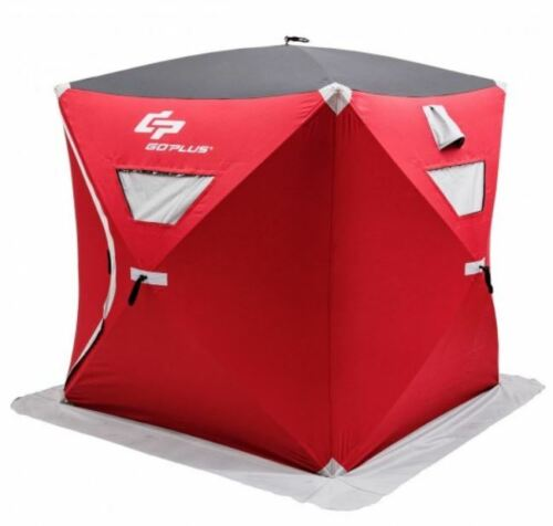 Insulated Ice Fishing Tent Shelter Pop up 2 Person Portable Waterproof With Bag