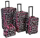 Giraffe Print Travel Luggage