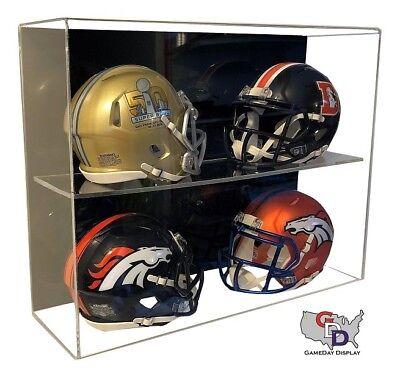 - ACRYLIC WALL MOUNT FOOTBALL 4 Mini Helmet DISPLAY CASE UV HOLDER GameDay Display
