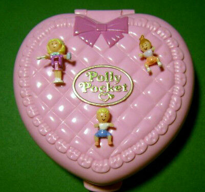 Polly Pocket Mini ♥ Baby Herz ♥ Perfect Playroom ♥ 1994 ♥ 100% Komplett ♥