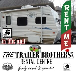 TRAVEL TRAILER for RENT for your camping trip