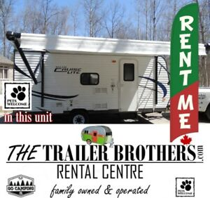 TRAVEL TRAILERS for RENT inquire now