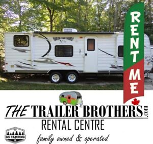 Camping in Style? RENT A TRAVEL TRAILER