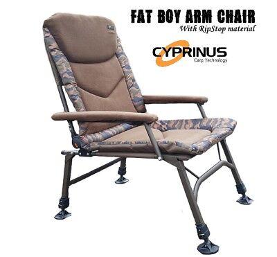 XL Camping Chair 4 Adjustable Legs FoxHunter Portable Folding Fishing Chair