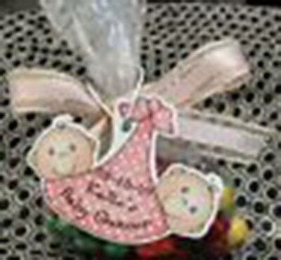 Baby Shower Party Favor Gift Tags/Polka Dots TWINS UNIQ
