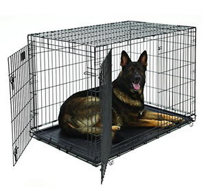 MidWest Life Stages Double Door Folding Metal Dog Crate with Div