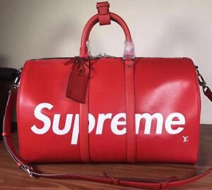 Louis Vuitton X Supreme Travel Bag  Red/Black ( More Styles Brands Colors Available)