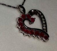 Brand new white gold chain and diamond heart pendant