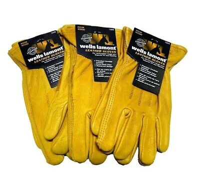 Wells Lamont Premium Cowhide Leather Work Gloves X-large 3 Pair New