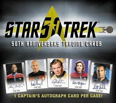 Star Trek 50th Anniversary Captains Autograph Set (5) Shatner Bakula - presale