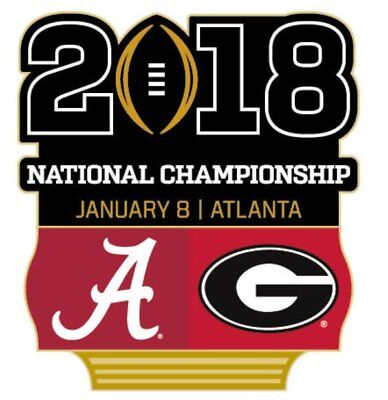 Official 2018 College Football National Championship Game Pin Georgia vs Alabama