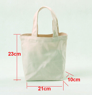 10x DIY Eco Blank Canvas Makeup Bags personalized Plain Totes Kids shopping Bags for sale  China