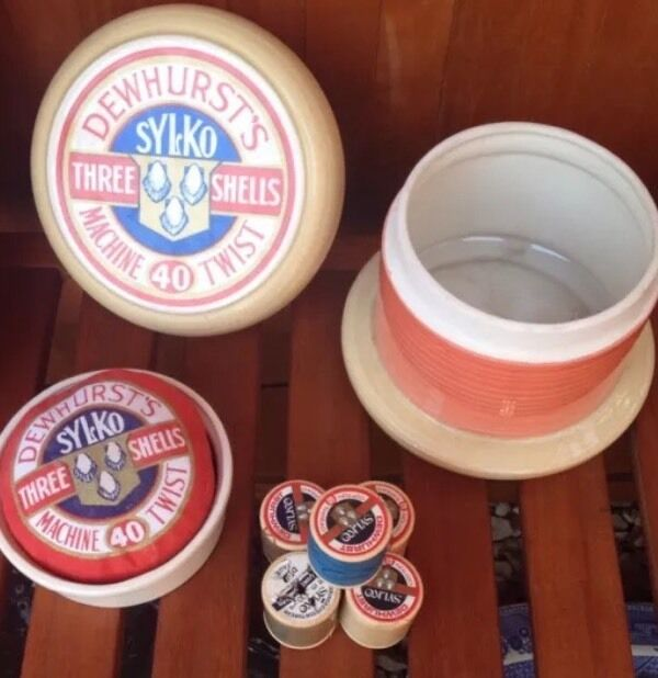 Dewhurst S Sylko Advertising Ceramic Storage Jar In