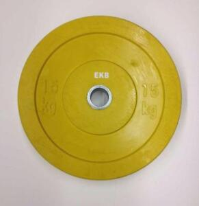 Brand New 15kg -33 lbs bumper weight training plate x 2 for sale