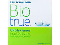 Bio true ONEday 90 lenses (PWR -2,75) + Bio true 3 pack free only for £30