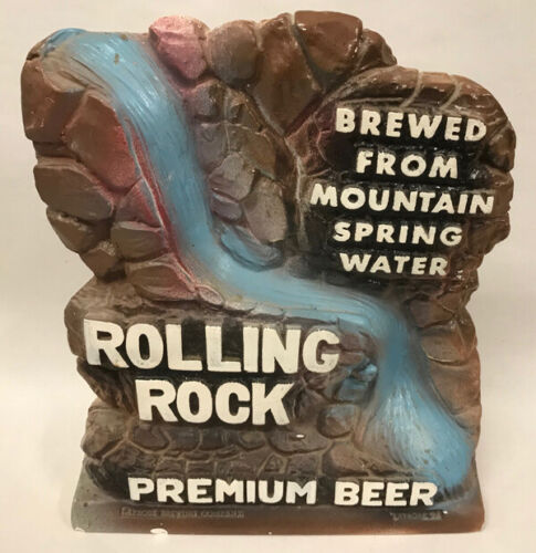 Rolling Rock Beer Chalkware Tavern Beer Sign
